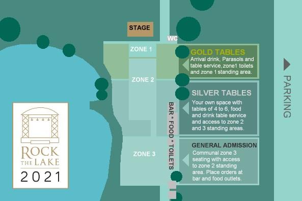 Rock the Lake seating plan 2021