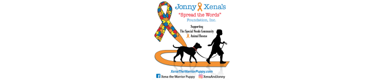 Jonny and Xena Spread the Words Foundation