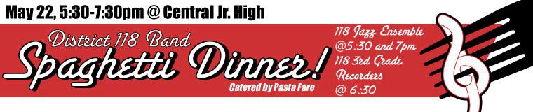 District 118 Band Spaghetti Dinner