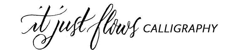 It Just Flows Calligraphy