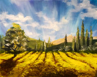 Fields of Gold Brush Party - Online image