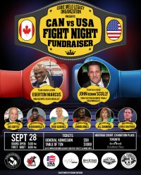 CAN vs USA Fight Night Fundrasier! image