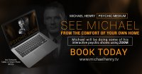 Zoom Psychic Show with Michael Henry image