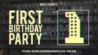 MULTI-STOREY'S FIRST BIRTHDAY image