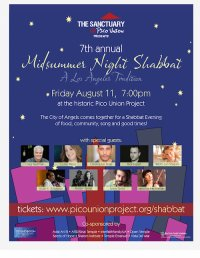 7th Annual Midsummer Night Shabbat - SOLD OUT! image