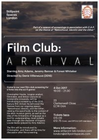 SPS Film Club: Arrival image