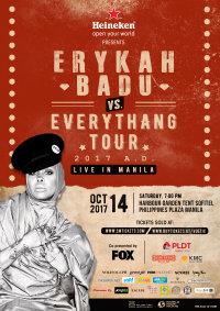 Erykah Badu vs Everythang Tour 2017 A.D., Live in Manila image