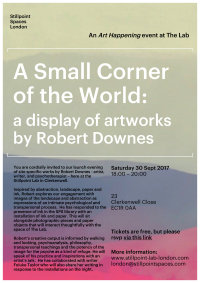 A Small Corner of the World: a display of artworks by Robert Downes image