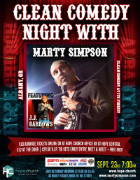 Comedy Night with Marty Simpson featuring J.J. Barrows image