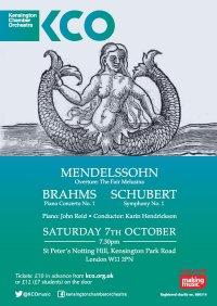 KCO October Concert - Mendelssohn, Schubert and Brahms image