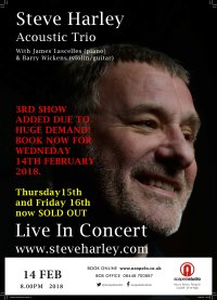 Steve Harley Acoustic Trio - 3RD DATE ADDED image