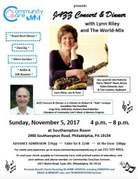 Jazz Concert & Dinner with Lynn Riley and the World Mix image