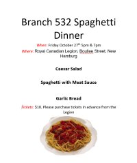 Legion 532 Spaghetti Dinner image