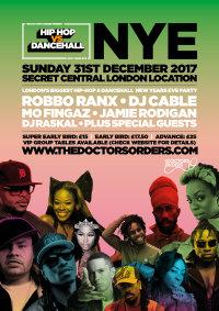 Hip-Hop vs Dancehall - New Year's Eve image