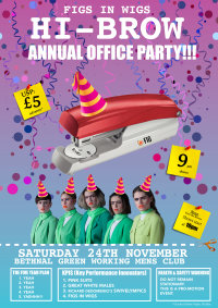 FIGS IN WIGS present:  HI-BROW: OFFICE PARTY image