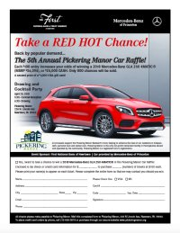 The 5th Annual Pickering Manor Car Raffle! image