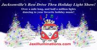 2017 JAX Illuminations Drive Thru Holiday Light Show image