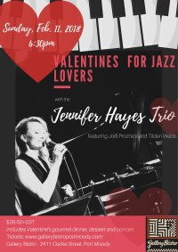 Jennifer Hayes Trio - Valentines for Jazz Lovers image
