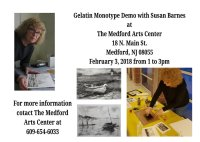 Gelatin Mono Type - Print Making for Adults, 3/15-3/29, 7-9 pm image