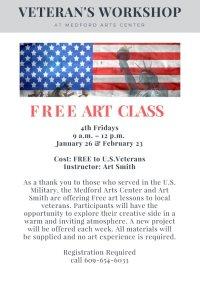 Free Art Workshop for Veterans- 4th Fridays 9-12PM image