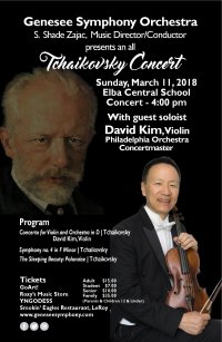 A night with David Kim - Symphony Number 4 in F minor image