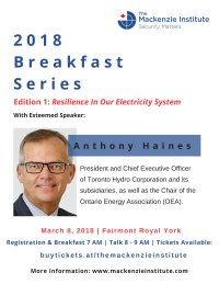 Resilience In Our Electricity System, with esteemed speaker Anthony Haines image