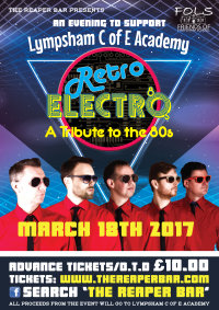 Club Tropicana Retro Electro 80's Party Night for Lympsham C Of E Academy image