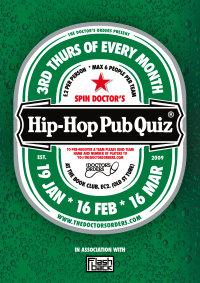 Spin Doctor's Hip-Hop Pub Quiz image