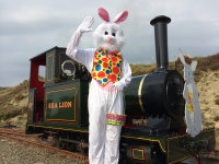 Easter Bunny Trains and the FREE Easter Egg Hunt image