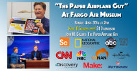 """Paper Airplane Guy"" At Fargo Air Museum image"