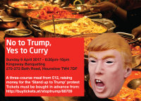 No to Trump, Yes to Curry - west London image