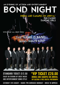 Bond Night with 'The Name is Band' plus support image