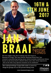 Jan Braai guest chef at Hammer & Tongs image
