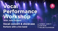 Vocal Performance Workshop & Showcase image