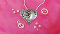 Embellished Silver Clay Hearts with Wizz Stearne - £74 image