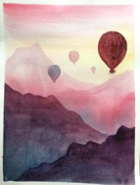 Up and Away - Watercolour - Mindful Break image