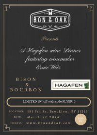 The Hagafen Wine Dinner featuring winemaker Ernie Weir image