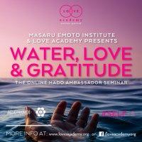 Masaru Emoto Institute & Love Academy presents Water, Love & Gratitude The Online Hado Ambassador Seminar image