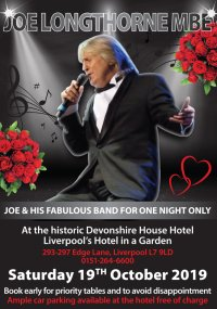 """MR JOE LONGTHORNE MBE with his fabulous band """"One Night Only"""" image"""