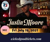 Justin Moore, Fri July 16, 2021 $62. image