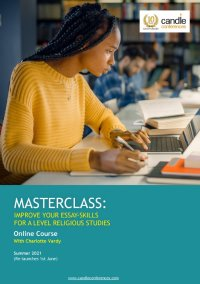 MASTERCLASS: IMPROVE YOUR ESSAY-SKILLS  FOR A LEVEL RELIGIOUS STUDIES image