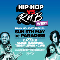 Hip-Hop vs RnB - Bank Holiday Special image