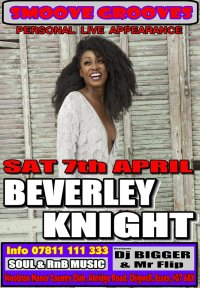 SMOOVE GROOVES WITH GUEST PA BEVERLEY KNIGHT image