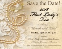 First Lady's Tea - Sunday April 29 at 2:00 pm image