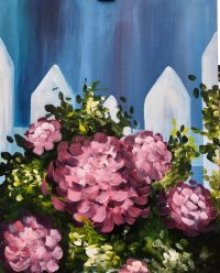 Heavenly Hydrangeas Brush Party - Online image