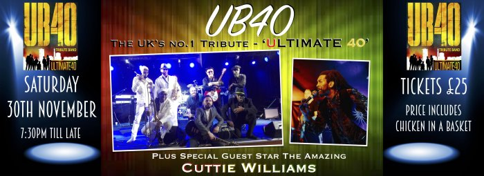 Buy tickets for UB40 'The Ultimate 40' at Premier Suite