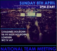 Buy Tickets For National Team Meeting At Citadine Holborn 94 99 High London WC1V 6LF Sun 8 April 2018