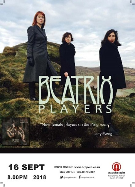 Buy tickets for Beatrix Players at Acapela Studios, Sun 16 September