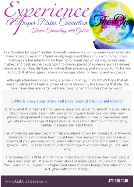 Buy tickets for Dallas Gallery Reading with Gabbie & The ONE