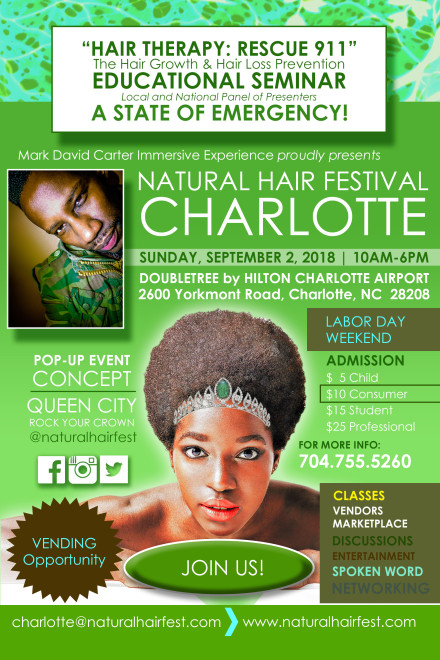NATURAL HAIR FEST CHARLOTTE Official Flyer